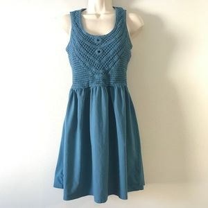 Mossimo Blue Lacey Top Tank Dress